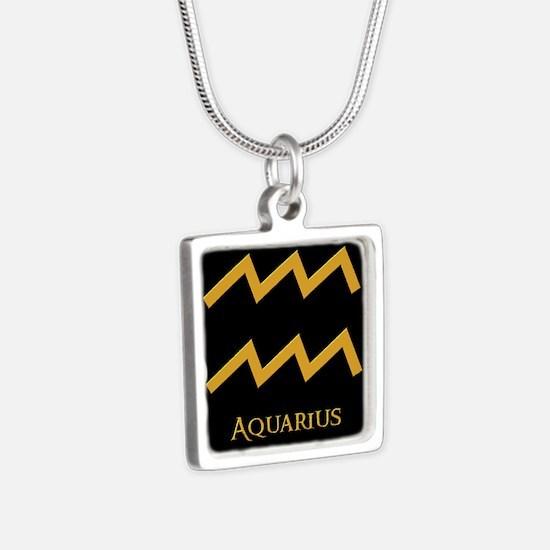 Aquarius Silver Square Necklace