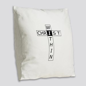 Christ Within ~ WRH Burlap Throw Pillow