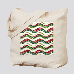 Christmas waves and snowflakes Tote Bag