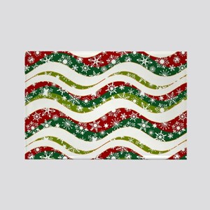 Christmas waves and snowflakes Magnets