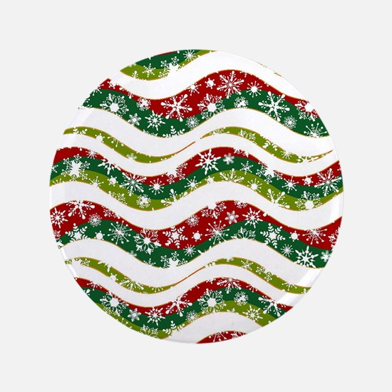 Christmas waves and snowflakes Button