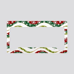 Christmas waves and snowflake License Plate Holder