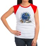 The Earth Is Our House Too Women's Cap Sleeve T-Sh