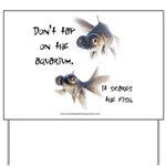 Don't Tap on the Aquarium Poker Yard Sign
