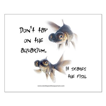 Don't Tap on the Aquarium Poker Small Poster
