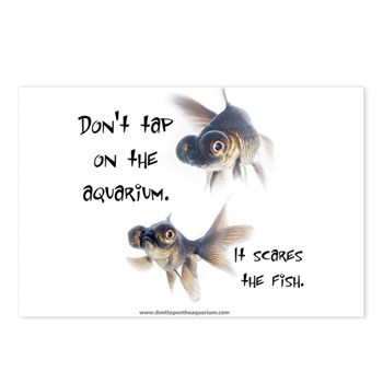 Don't Tap on the Aquarium Poker Postcards (Package