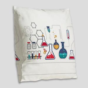 Science Burlap Throw Pillow