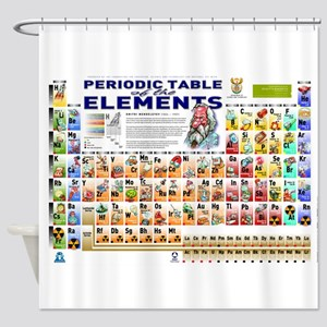 Periodic table shower curtains cafepress periodic table shower curtain urtaz Gallery