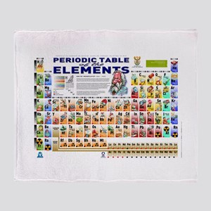 Periodic table blankets cafepress periodic table throw blanket urtaz Image collections