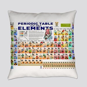 Periodic Table Everyday Pillow