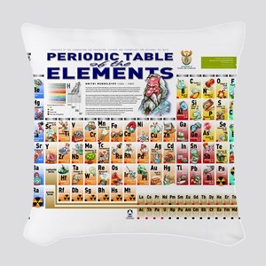 Periodic Table Woven Throw Pillow
