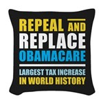 Repeal And Replace Obamacare Woven Throw Pillow