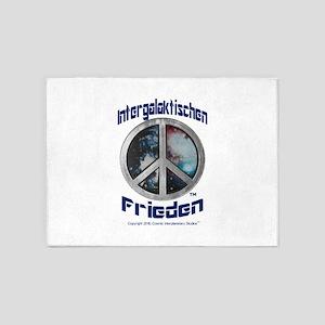 Intergalaktischen Frieden Logo 5'x7'Area Rug