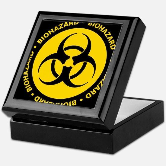 Yellow Biohazard Warning Keepsake Box