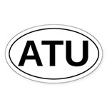 Aarne Thompson Uther, Oval Bumper Sticker Sticker