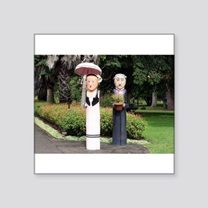 Old married couple sculptures Sticker