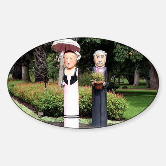 Old married couple sculptures Decal