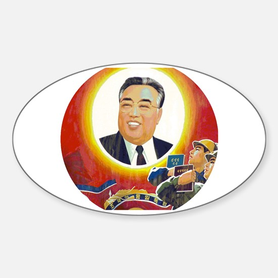 Funny Leftie Sticker (Oval)