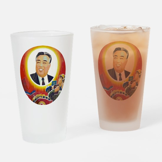 Funny Leftie Drinking Glass