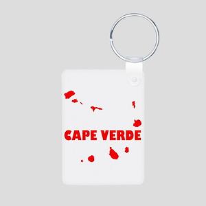 Cape Verde Islands Aluminum Photo Keychain