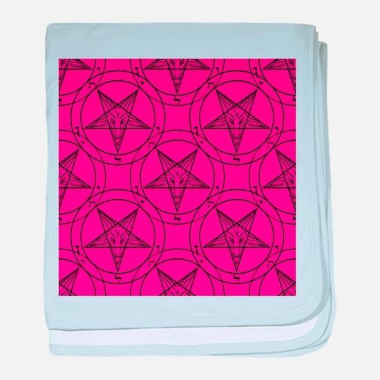 pink baphomet baby blanket