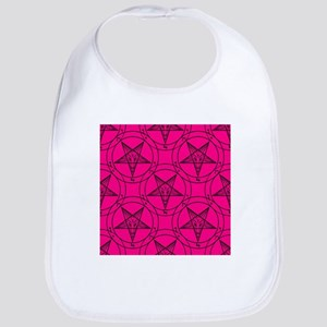 pink baphomet Bib