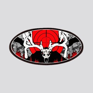Monster buck skull red Patch