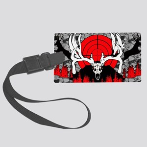 Monster buck skull red Large Luggage Tag