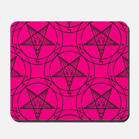 pink baphomet Mousepad