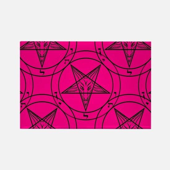 pink baphomet Magnets