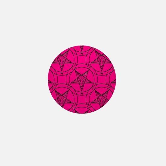 pink baphomet Mini Button
