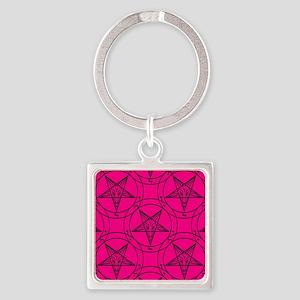 pink baphomet Keychains