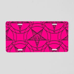 pink baphomet Aluminum License Plate