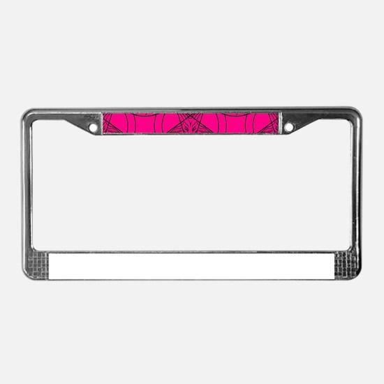 pink baphomet License Plate Frame