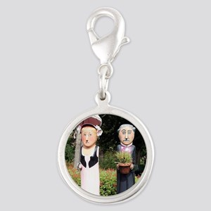 Old married couple sculptures Charms