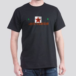 Anti-Fascist, red/green star T-Shirt