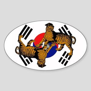 Korean Tigers Sticker (Oval)