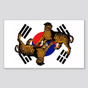 Korean Tigers Sticker (Rectangle)