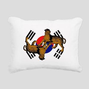 Korean Tigers Rectangular Canvas Pillow