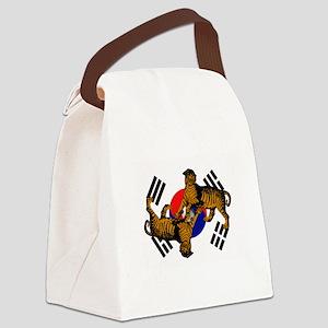 Korean Tigers Canvas Lunch Bag