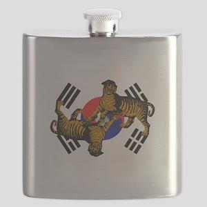 Korean Tigers Flask