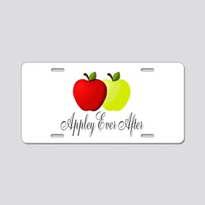 Appley Ever After Aluminum License Plate