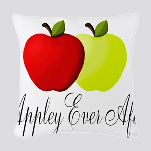 Appley Ever After Woven Throw Pillow