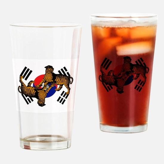 Korean Tigers Drinking Glass