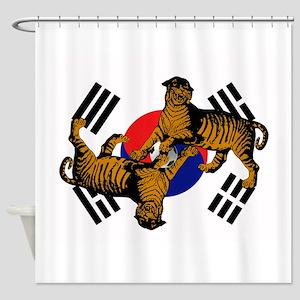 Korean Tigers Shower Curtain