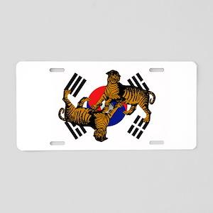 Korean Tigers Aluminum License Plate