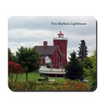 Two Harbors Lighthouse & Boat Mousepad