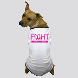 Fight Cancer Ribbon Personalized Dog T-Shirt