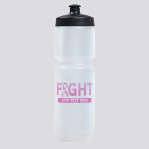 Fight Cancer Ribbon Personalized Sports Bottle