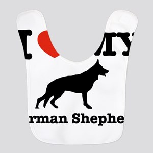I love my German Shepherd Polyester Baby Bib